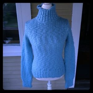 Free People Ice Blue Knit Sweater